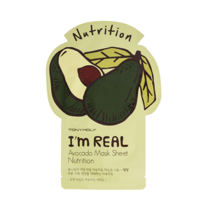TonyMoly Im Real Mask Sheet Avocado Nutrition