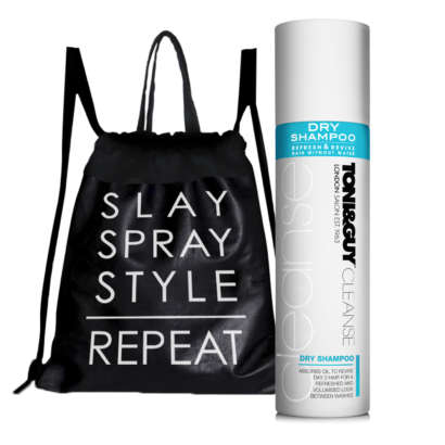 Toni&Guy Dry Shampoo Cleanse with FREE workout bag