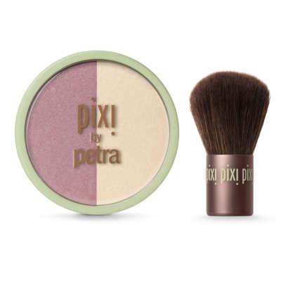 Pixi Beauty Blush Duo + Kabuki Rose Gold