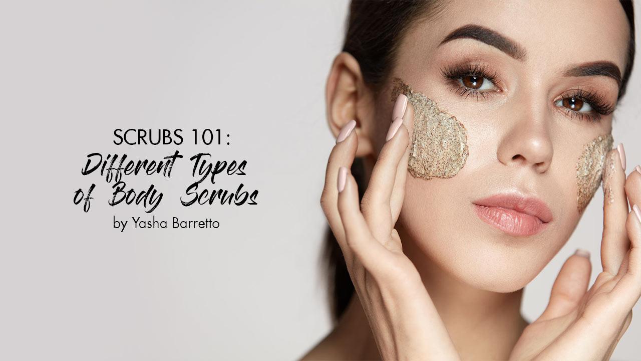 Using body scrub on face