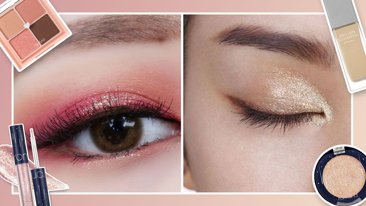 5 Glitter Makeup Looks Using ROM&ND